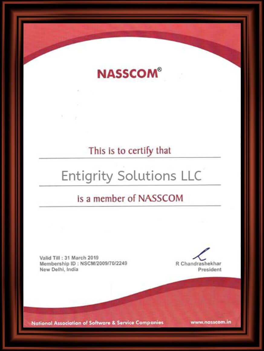 Entigrity NASSCOM Certified