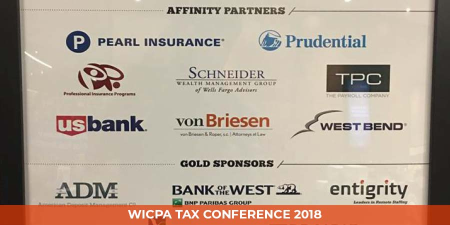 Gold Sponsors at WICPA Tax Conference 2018