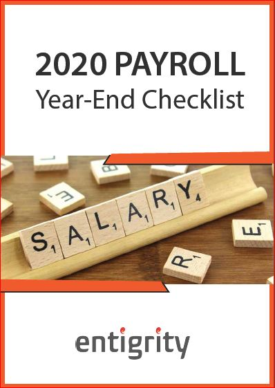 2020 PAYROLL YEAR-END CHECKLIST
