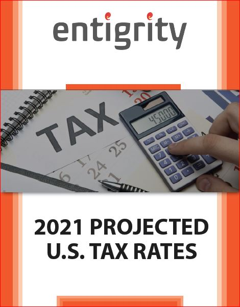 2021 PROJECTED US TAX RATES
