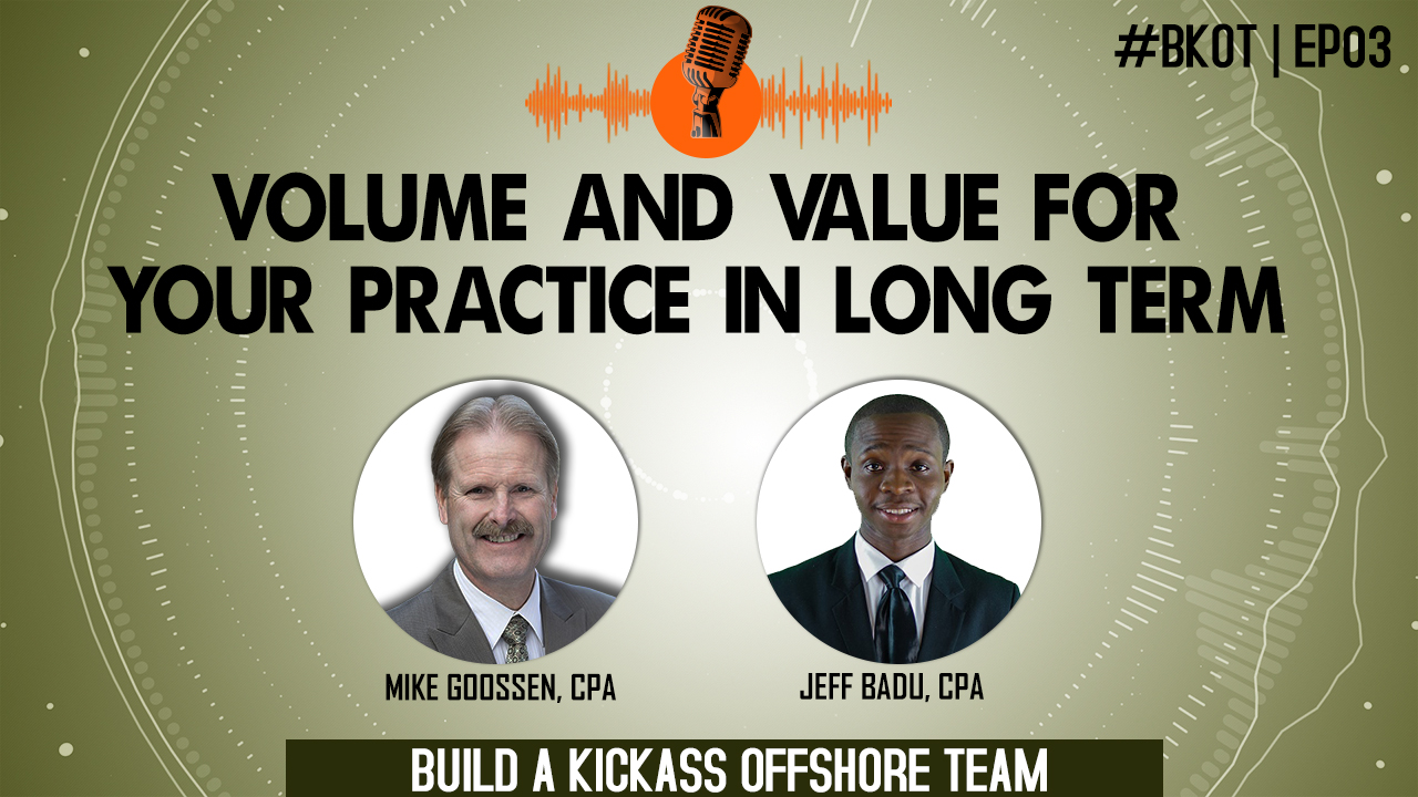 VOLUME AND VALUE FOR YOUR PRACTICE IN LONG TERM