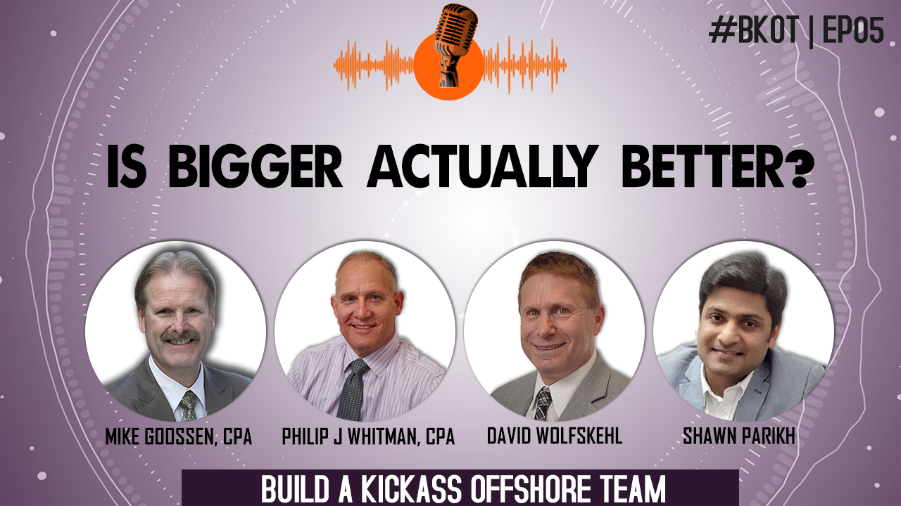 BUILD A KICKASS OFFSHORE TEAM  IS BIGGER ACTUALLY BETTER?