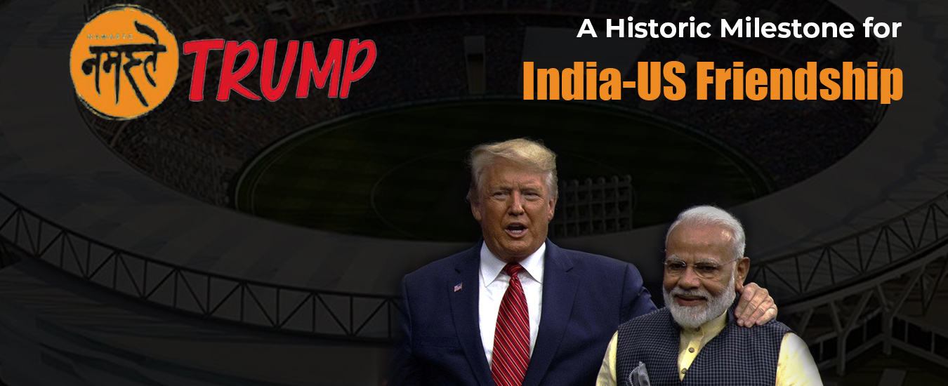 NAMASTE TRUMP: TRUMP TO INAUGURATE THE LARGEST CRICKET STADIUM IN THE WORLD